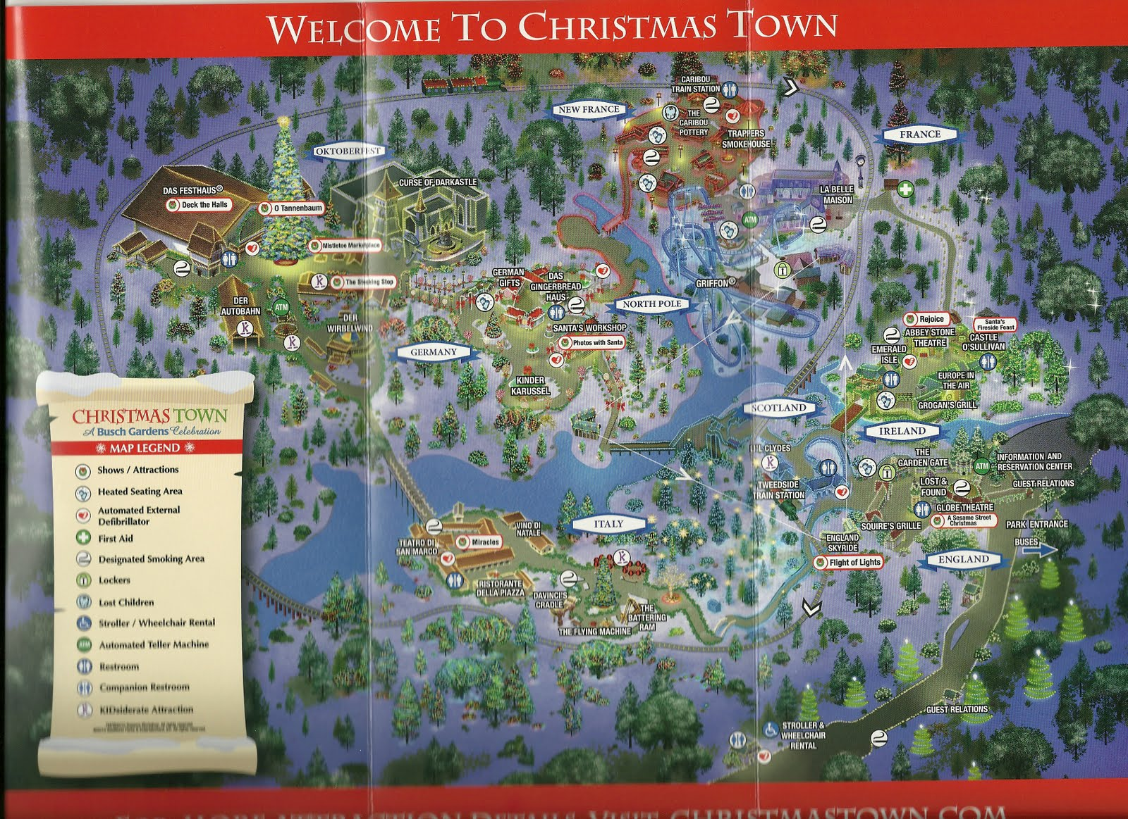 Christmas Town at Busch Gardens Williamsburg Christmas Town at