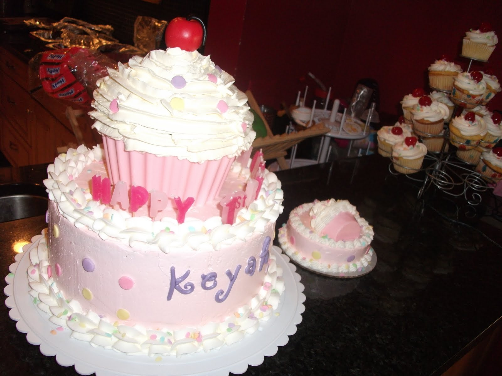 Cupcake Theme 1st Birthday Cake Fairy N Cupcake