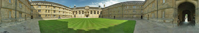 panorama of the quad of Wadham College