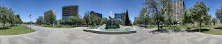 Victoria Square in Adelaide 360 panorama image