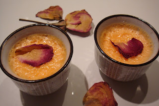Petits pots de creme a la rose façon Laduree recette
