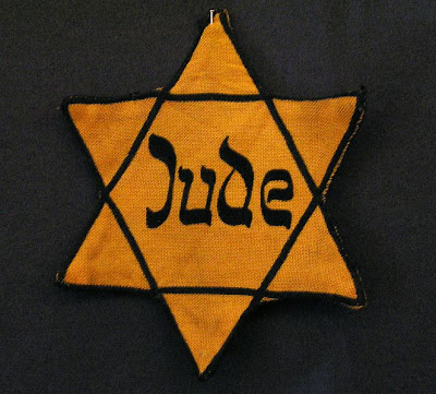 Yellow badge Star of David called Judenstern