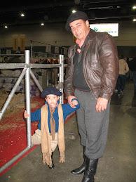 Pequeno Gaucho con el papa