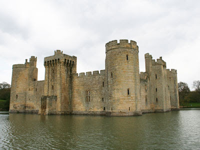 An English Castle with a moat