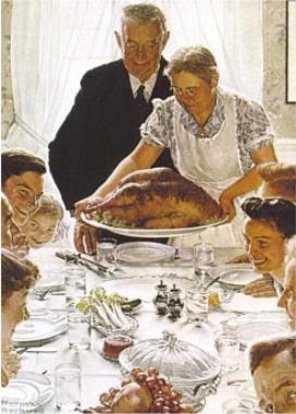 Norman Rockwell's 'Freedom From Want'