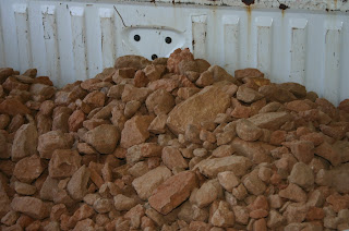 Rocks in the bed of my pickup truck