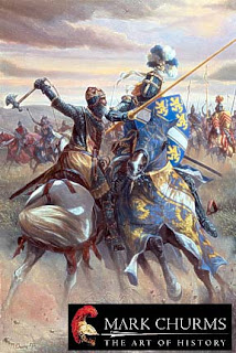 Robert the Bruce in battle against Henry de Bohun painting by Mark Churms