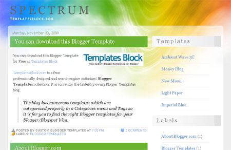 Spectrum Blogger Template