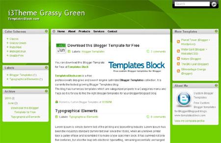 Green White Windows Web2.0 Blogger Template