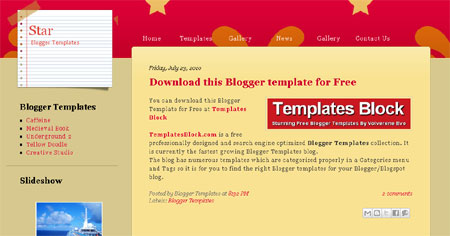Star Celebrities Orange Web2.0 Blogger Template
