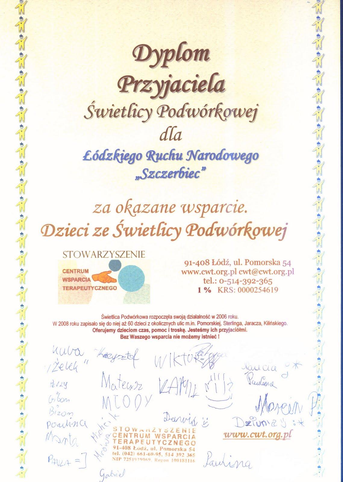 """ŁRN """"Szczerbiec"""" pomaga dzieciom"""