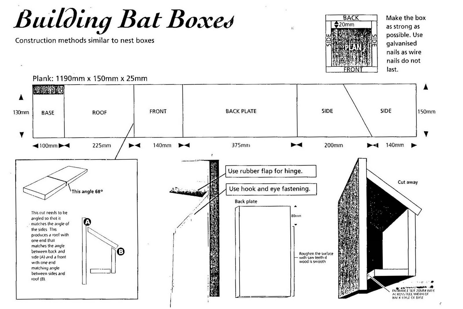 How to make a bat box images frompo for How to make a bat house