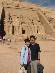 With My Husband, Art in Abu Simbel, Egypt