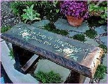 The Mary Garden Meditation Bench