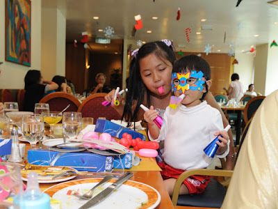 Dylea and Renee, enjoying their party packs