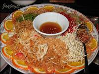 Yee Sang, replenished dish