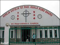 Front view of the Church of St. Paul the Apostle, at Kuala Kubu Baru, Ulu Selangor, Selangor
