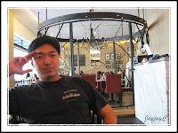 David posing inside Paddington House of Pancakes at The Curve