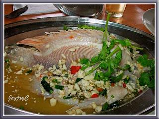 Talapia fish, steam limau thai style - RM24