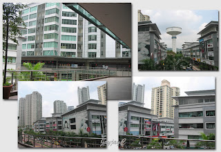 Some pics taken while strolling at 1st flr., Block J of SohoKL, of buildings in the vicinity