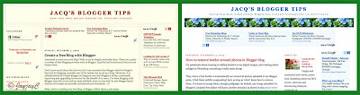 Screen shots of a 3-column blog, using the Minibox and Minima templates