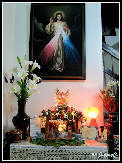 Altar at home during the Christmas season