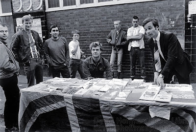 Tony Wakeford (Death in June / Sol Invictus) with the National Front in Brick Lane