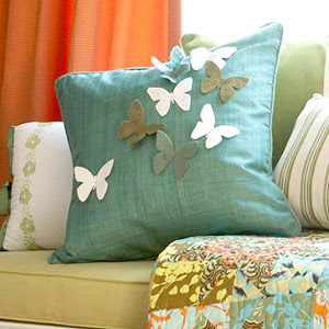 fortune on designer pillows  make this easy sew butterfly pillow