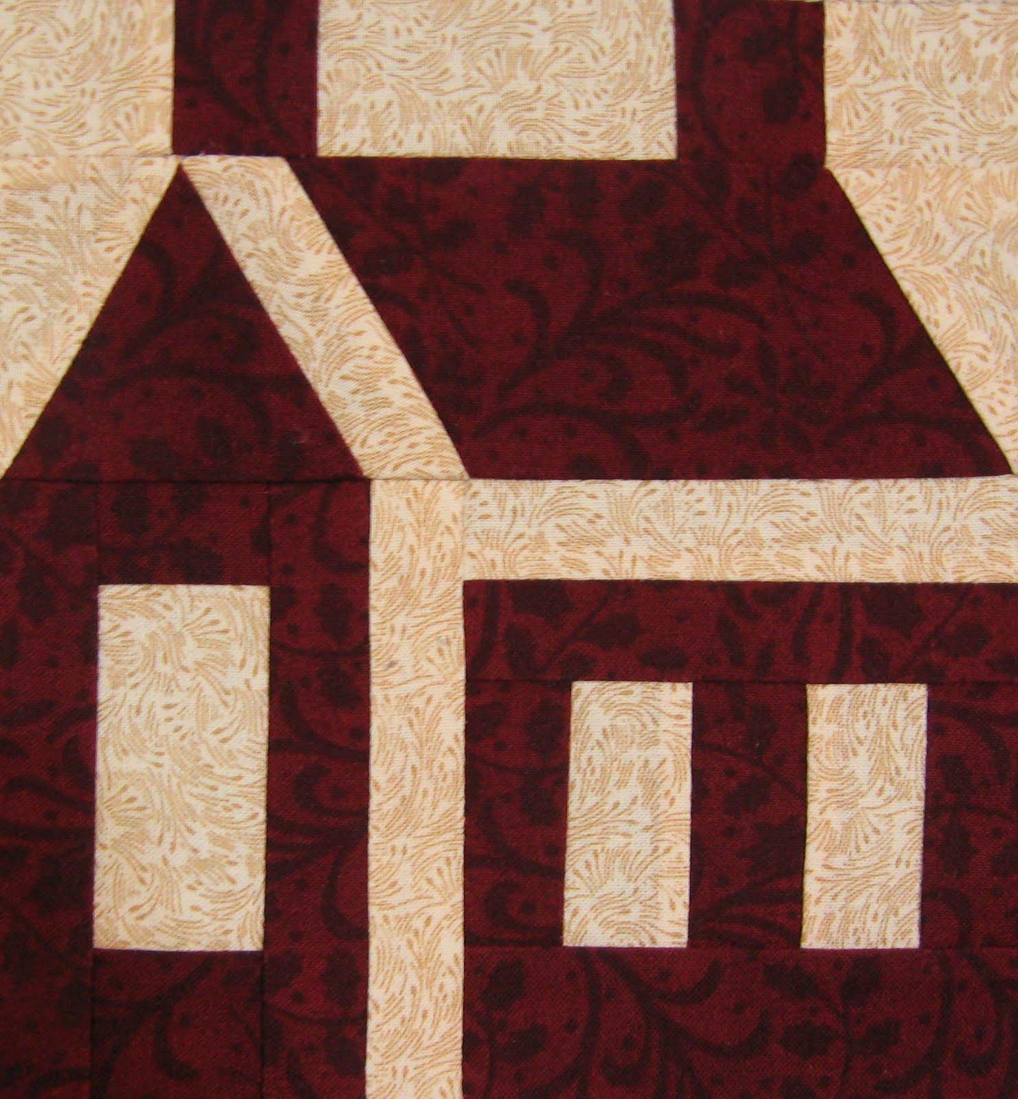Paper Pieced Schoolhouse Quilt BlockPaper Pieced Schoolhouse Quilt Block How to get a man to ...