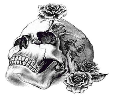 rose skull tattoo. rose skull tattoo. Skull Rose