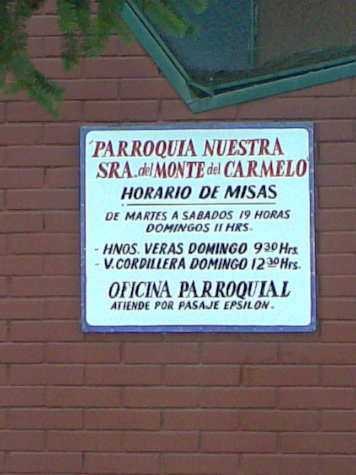 Parroquias y capillas de rancagua for Horario de oficina correos