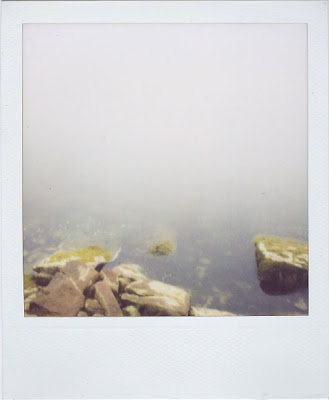Erin Curry art- Haystack polaroid water's edge