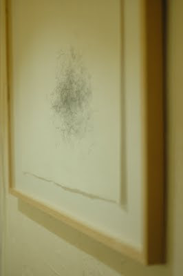 Erin Curry spindle drawing framed