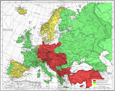 alliances of ww1. map of europe 1914 alliances.