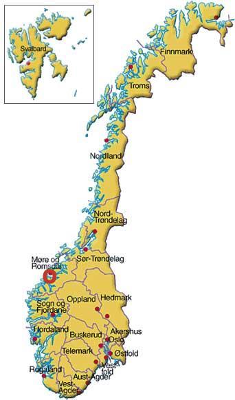 Vestnes i Norge