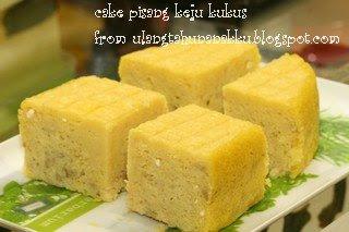 cake pisang keju kukus