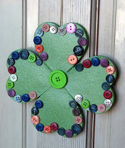 blog, top five St Patrick's day craft ideas for kids, welcome shamrock
