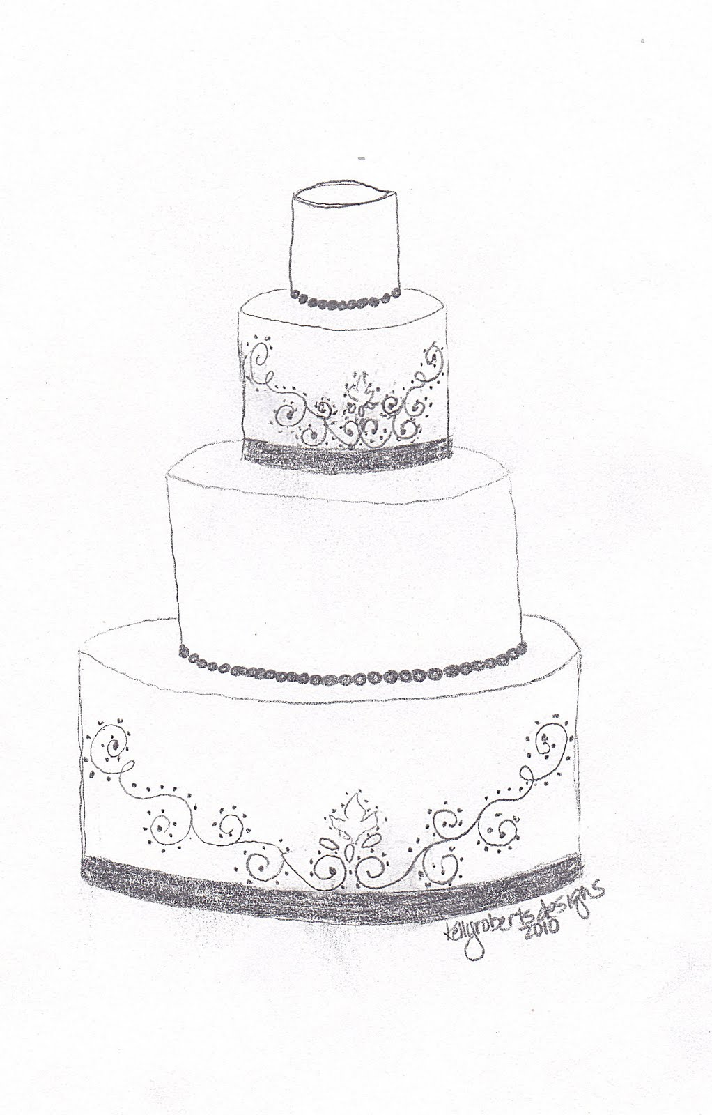 Kelly Roberts Designs: Wedding or Celebration Cake Design ...