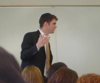 Rabbi Yehuda Sarna speaking