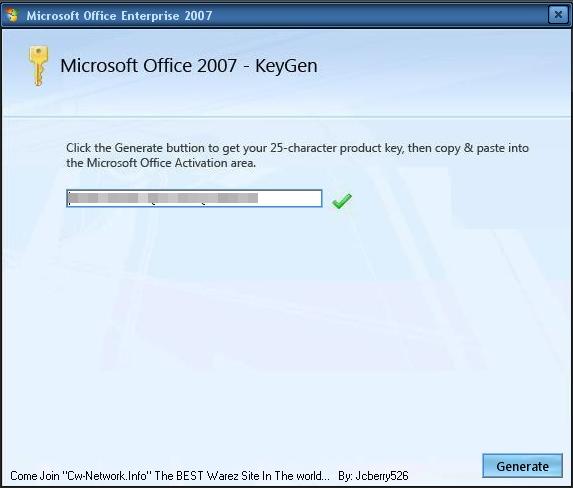 Держите Кейген для майкрософт офис 2007. . Скачать данный файл вы нужен