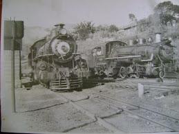 Locomotivas na década de 1940.
