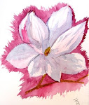 Original Watercolor - Magnolia ....