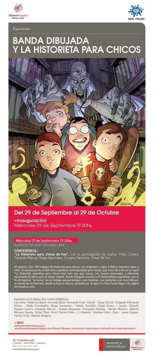 Afiche de la exposición Banda Dibujada y la Historieta para Chicos