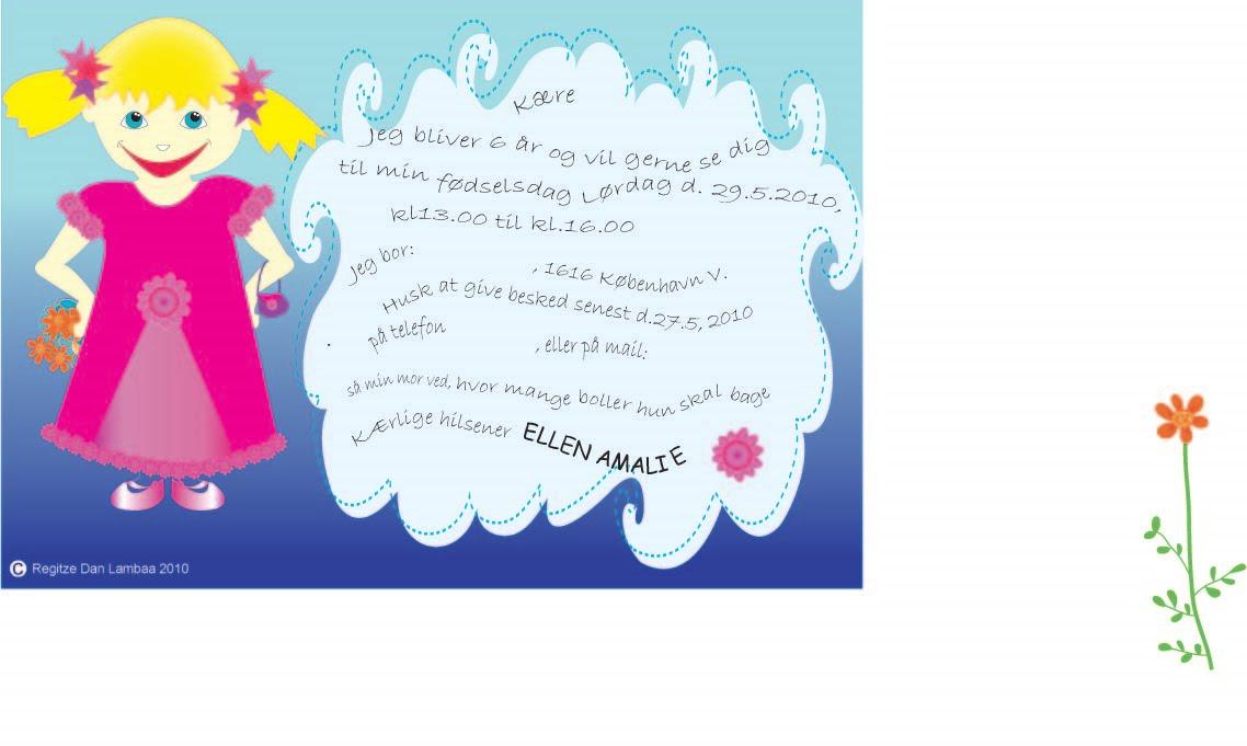 invitation til børnefødselsdag