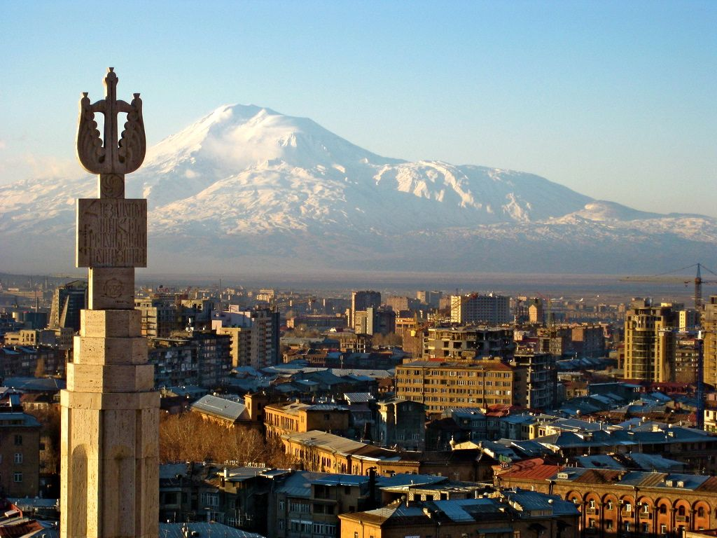 Mount Ararat from Yerevan, Armenia