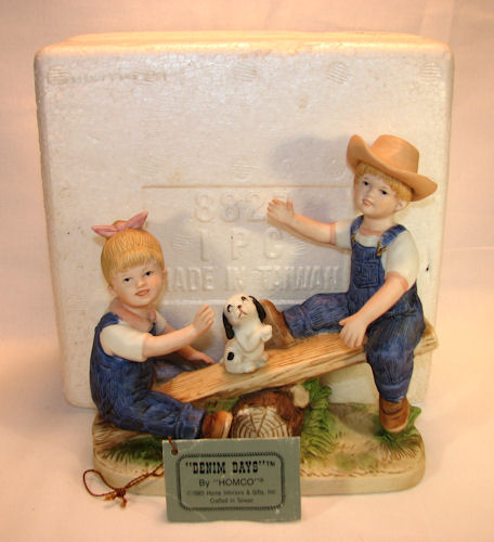 Ola team blog homco 1985 denim days playtime 8827 mib for Home interiors gifts inc company information