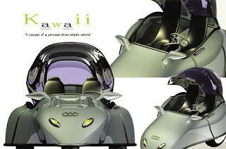 Kawaii : Three Wheels Minimalist and Stylish Vehicle Concept