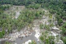 Bau Mayat Menyengat di Daerah Tsunami Mentawai