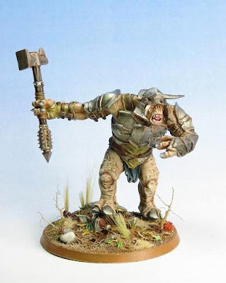 Fully painted Mordor Troll from the Games Workshop Lord of the Rings range