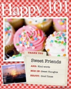 The SWEET FRIEND award, from Kato
